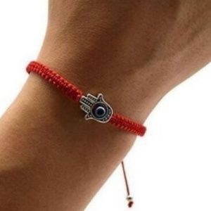 Jewelry - Evil Eye Gold filled bracelet handmade Red